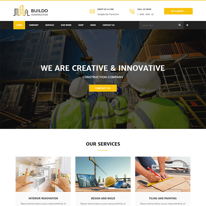 Buildo - Construction & Renovation Business Theme