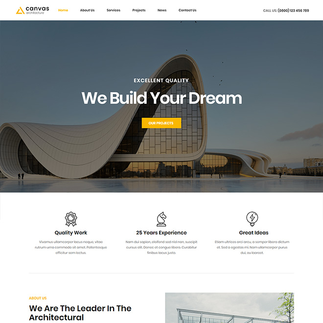 Canvas Arch - Architecture & Interior WordPress Theme