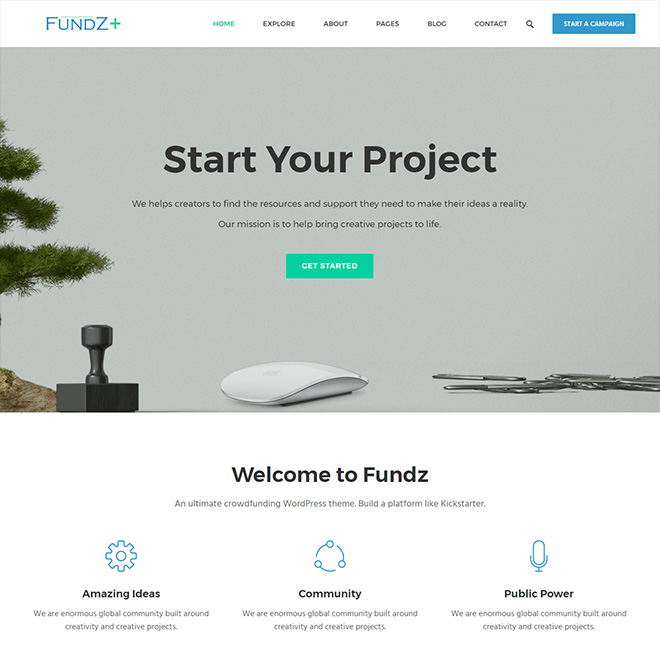 Fundz - WordPress Crowdfunding & Charity Theme